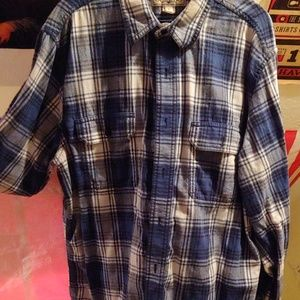 Plaid button up long sleeve